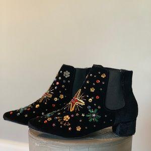 Betsy Johnson Jax Embellished Chelsea Boot
